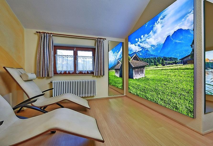 Hotel Vier Jahreszeiten in Garmisch-Partenkirchen, Wellnessbereich