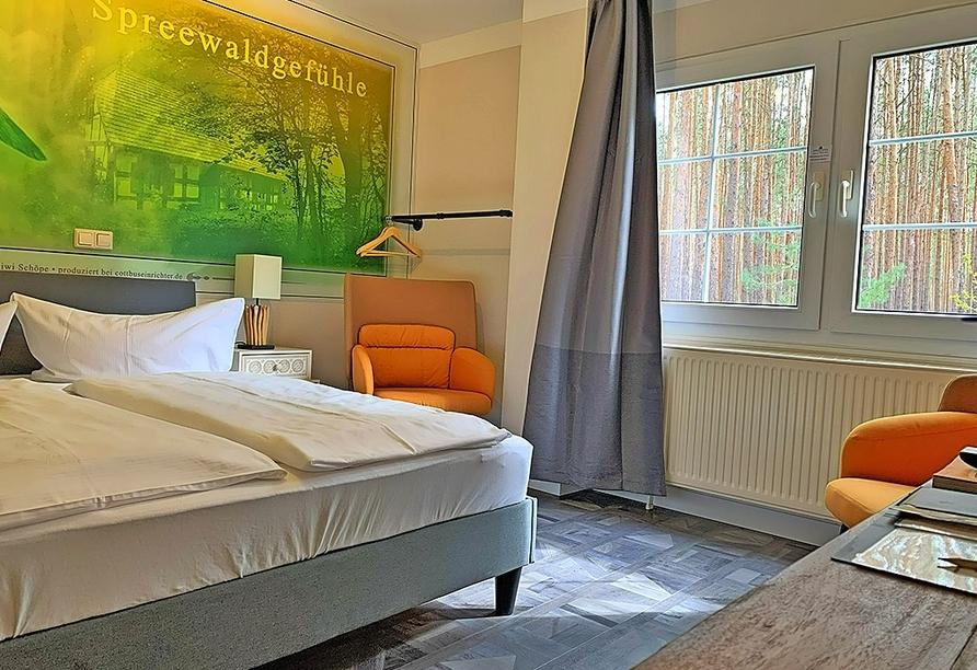 Spree-Waldhotel Cottbus in Brandenburg, Beispiel Businesszimmer