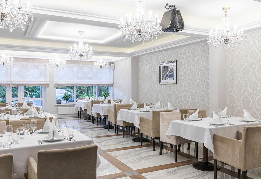 Hotel Bernstein in Dabki-Bobolin Ostsee Polen, Restaurant