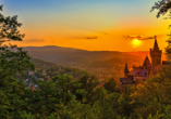 PRIMA Hotel Harzromantik, Schloss Wernigerode im Sonnenuntergang