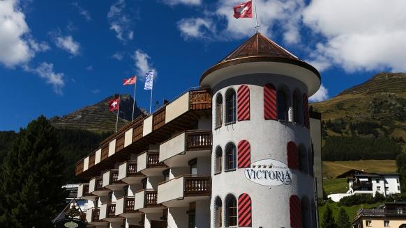 Turmhotel Victoria in Davos, Schweiz, Außenansicht