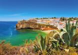 Traumhafter Küstenabschnitt an der Algarve.