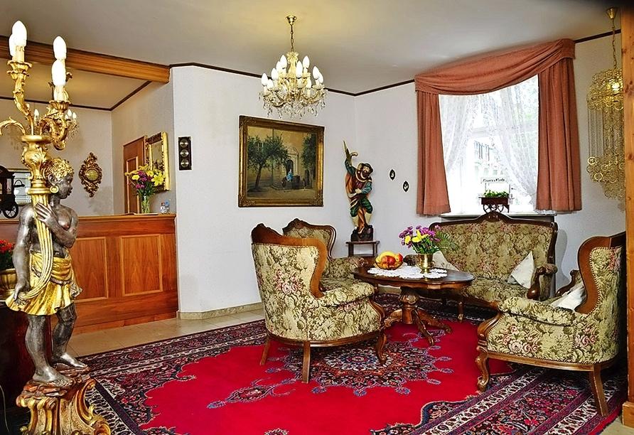 Romantica Hotel Blauer Hecht in Dinkelsbühl, Aufenthaltsraum