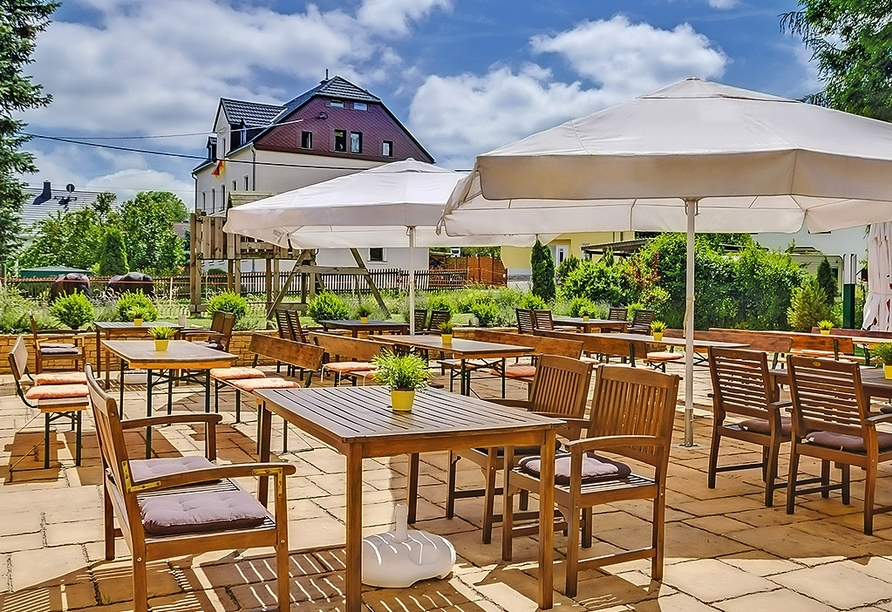 Erzgebirgshotel Freiberger Höhe, Eppendorf, Erzgebirge, Terrasse