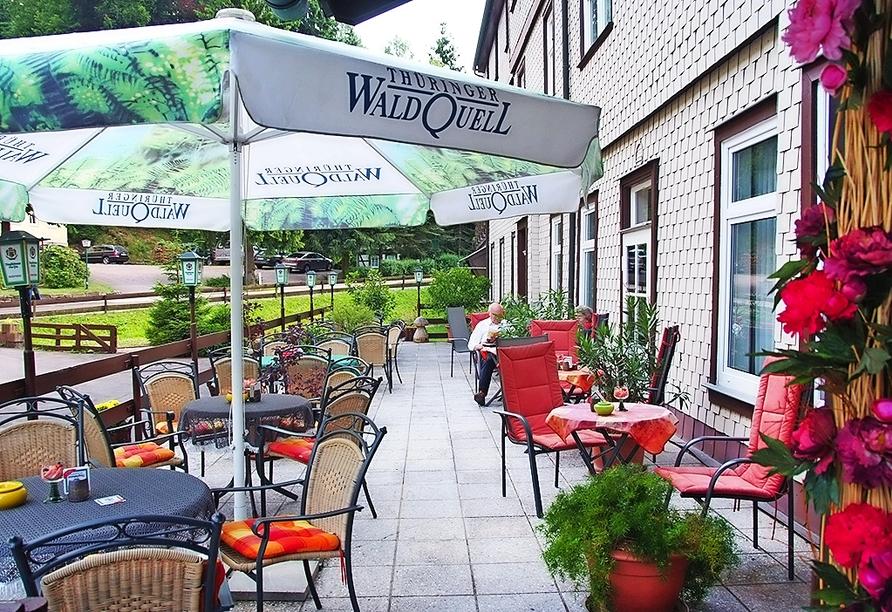 Terrasse des Waldhotel Friedrichroda