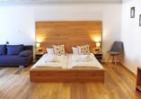 Beispiel eines Doppelzimmers im Das Waldkönig Ferienhotel
