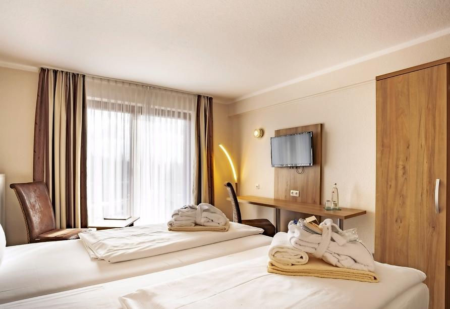 aqualux Wellnesshotel in Bad Salzschlirf in Hessen, Zimmerbeispiel