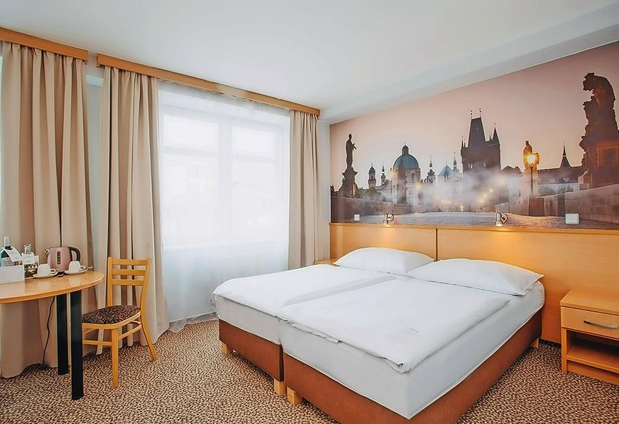 Wellness Extol Inn Hotel in Prag in Tschechien, Beispiel Doppelzimmer Standard
