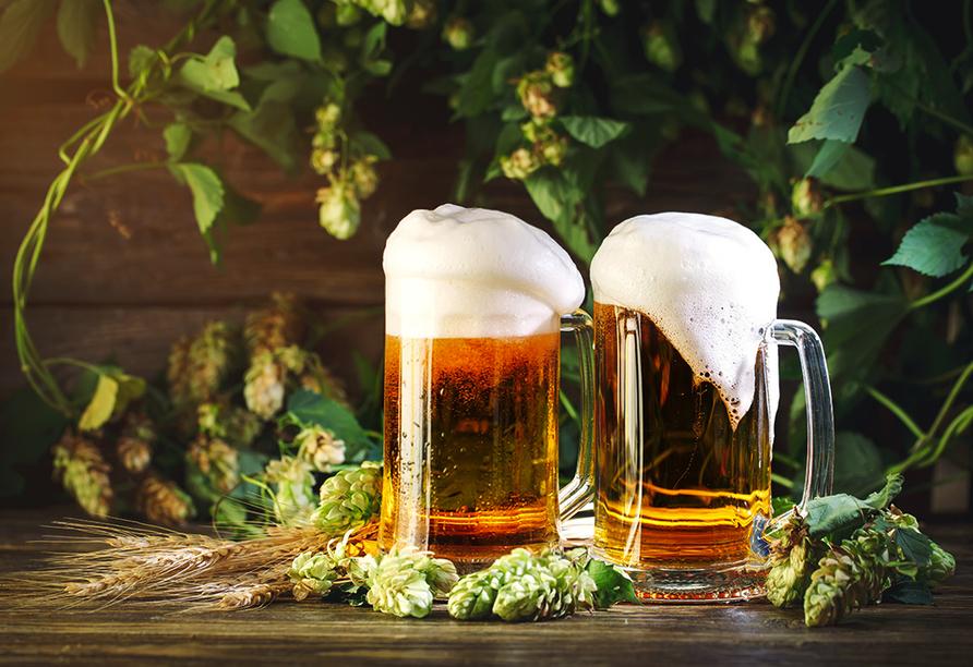 Ein besonderes Erlebnis ist eine Brauereiführung durch die Privatbrauerei Erdinger Weißbräu.