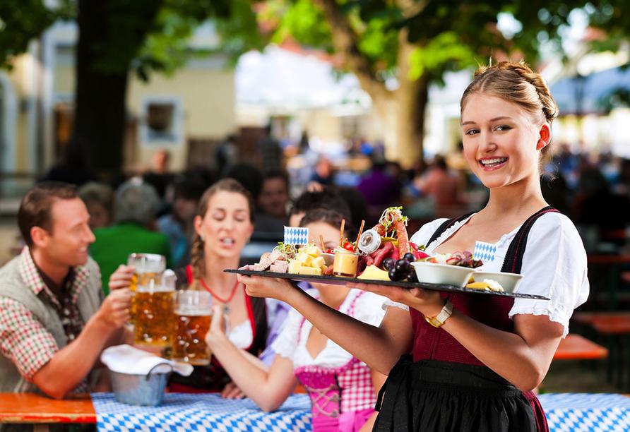 Lassen Sie sich mit bayerischen Spezilaitäten verwöhnen.