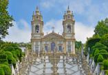 Die Standseilbahn Elevador do Bom Jesus bringt Sie zur Wallfahrtskirche Bom Jesus do Monte.