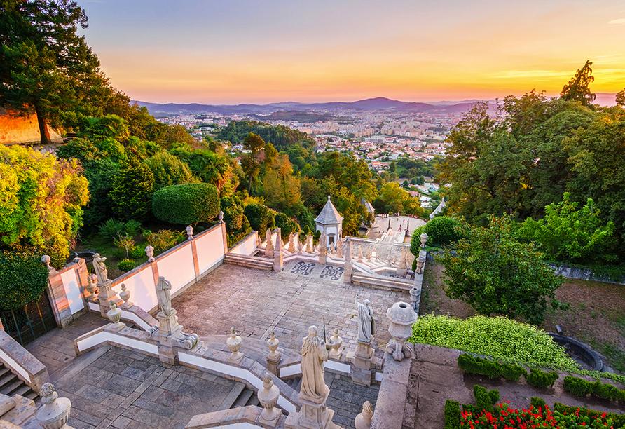 Von der Wallfahrtskirche Bom Jesus do Monte aus haben Sie einen grandiosen Ausblick.
