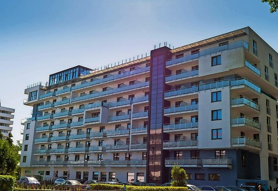Hotel Olymp III, Außenansicht