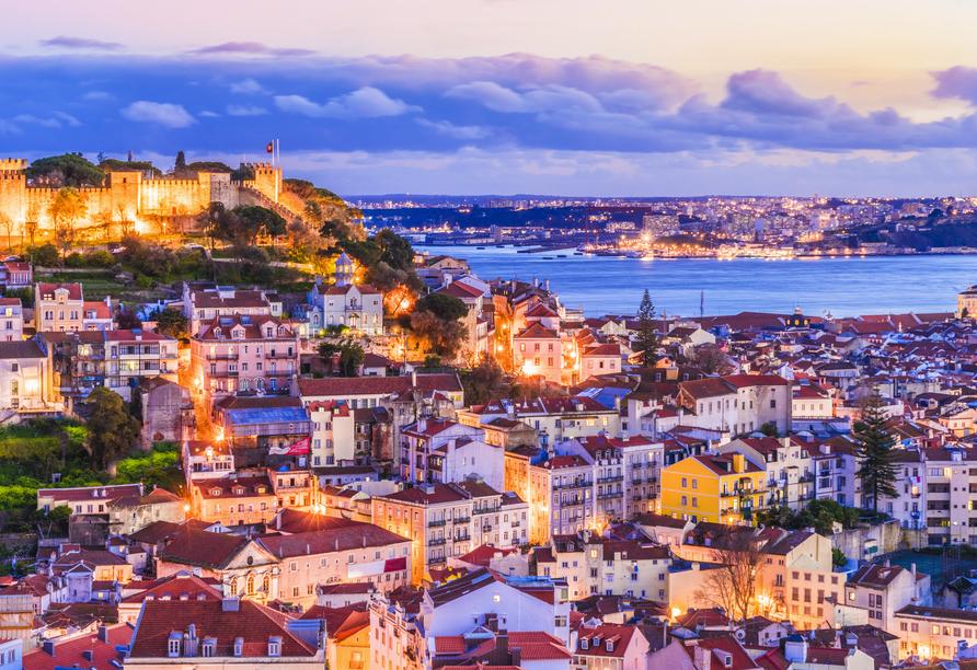 Freuen Sie sich darauf, die lebendige Hauptstadt Lissabon in voller Pracht kennenzulernen.