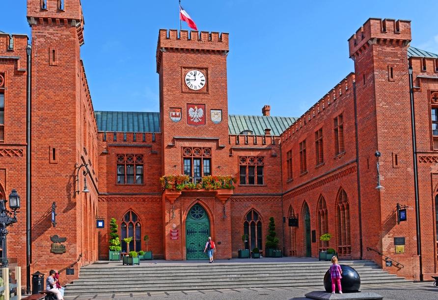 Auch das alte Rathaus von Kolberg ist äußerst beeindruckend.