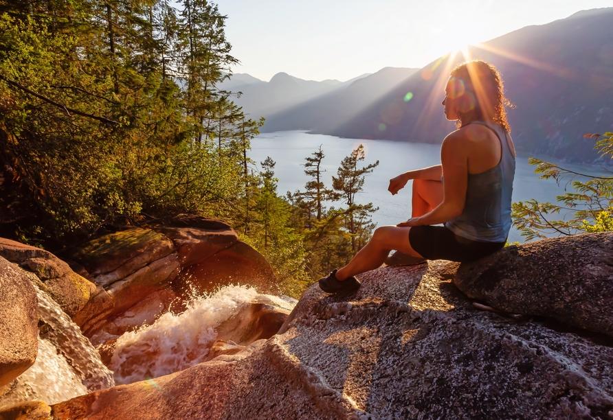 Kanadas Highlights von Ost nach West, Shannon Falls