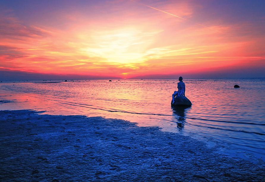 Malerischer Sonnenuntergang auf Poel.