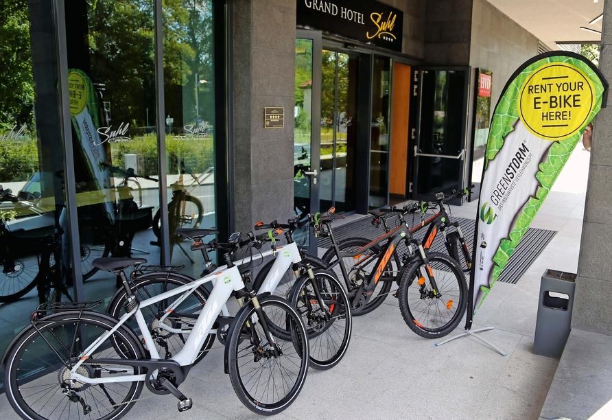 Grand Hotel Suhl, E-Bikes
