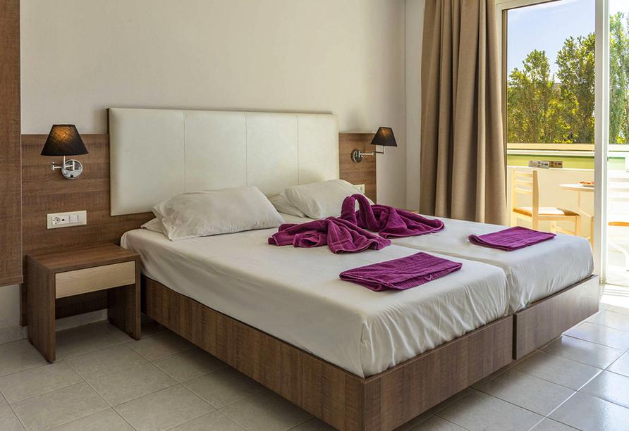 Beispiel eines Doppelzimmers Standard im Hotel Stamos in Faliraki