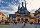Marktplatz in Wernigerode.