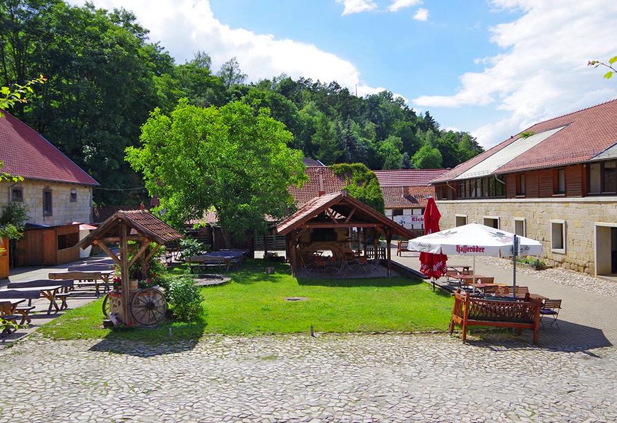 Innenhof vom Landhotel Schäferhof.
