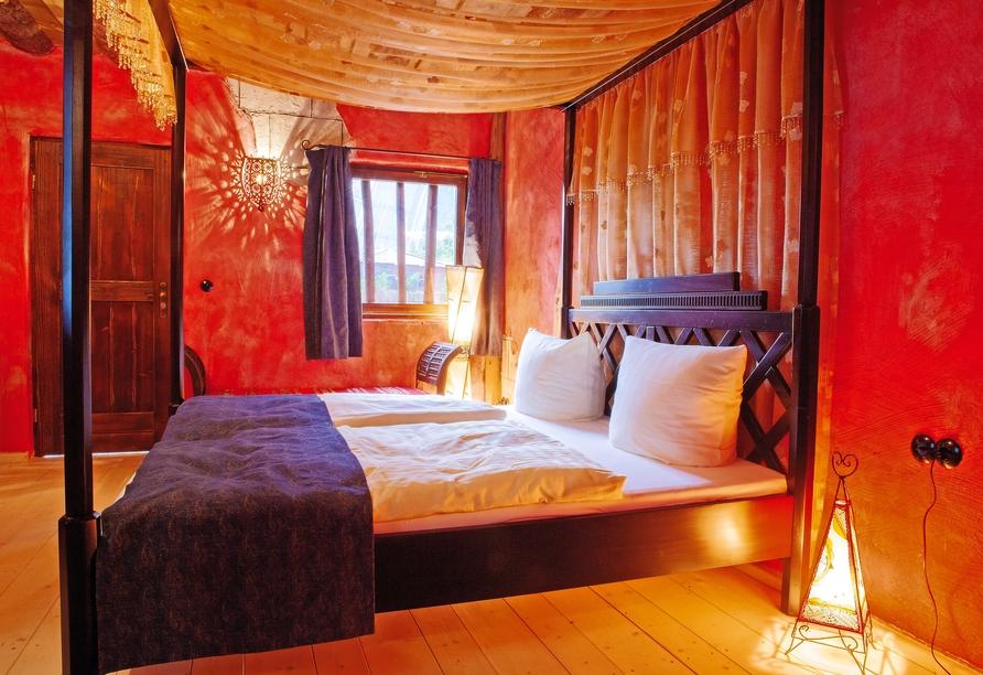 Tropical Islands Resort, Beispiel Schlafbereich Doppelzimmer Premium
