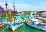 Der kleine Hafen von Ayia Napa mit seinen vielen Fischerbooten ist einer der schönsten seiner Art.