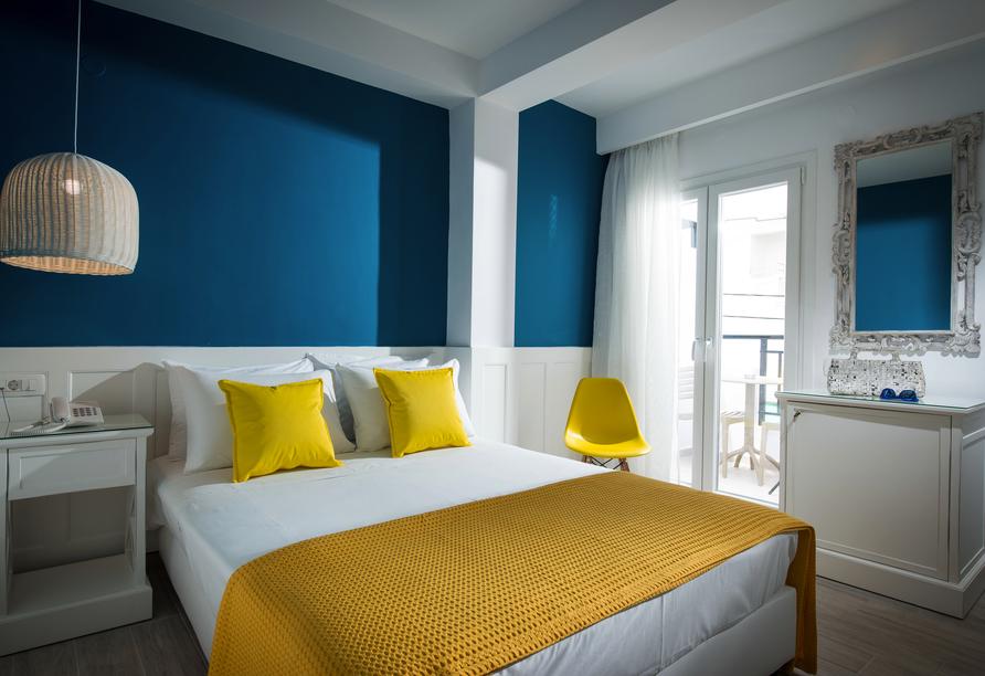 Beispiel eines Einzelzimmers im Mari Kristin Beach Hotel