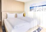Beispiel für ein Schlaftzimmer in der Fortuna Suite Landseite.