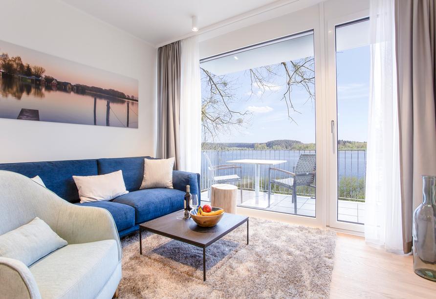 Beispiel für den Wohnbereich im Appartement Typ Aurora.