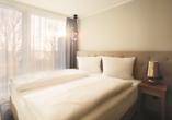 Beispiel für ein Schlafzimmer im Appartement Typ Aurora.