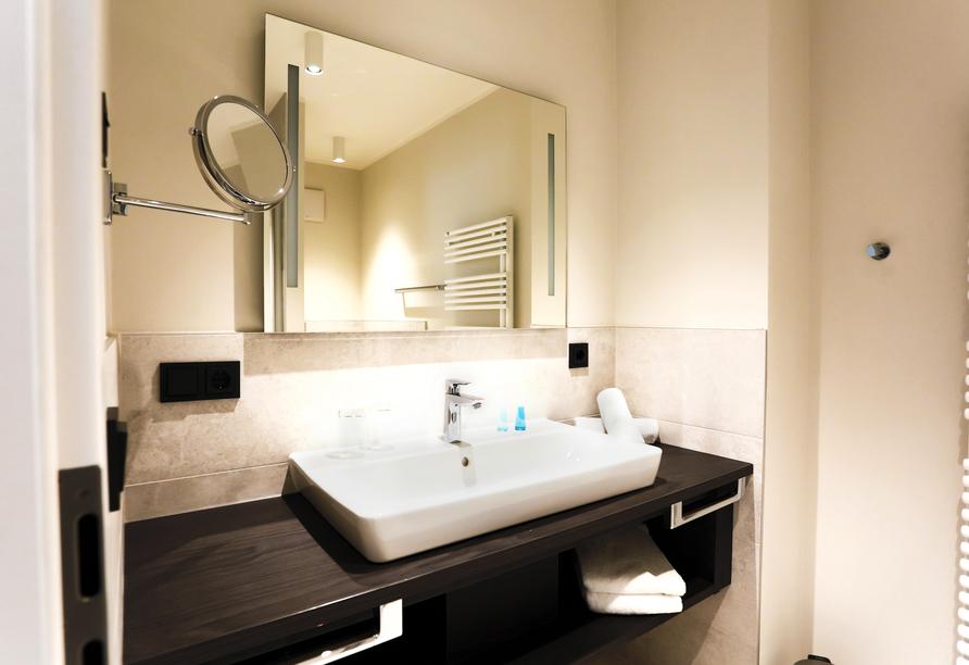 Beispiel für ein Badeezimmer im Appartement Typ Aurora.