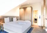 Beispiel für ein Schlafzimmer in der Kompass Maisonette Suite Landseite