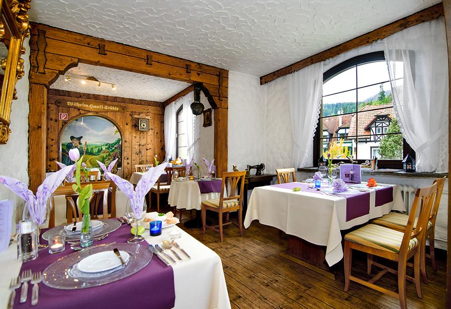 Köstliche Speisen erwarten Sie im Restaurant des Hotels.