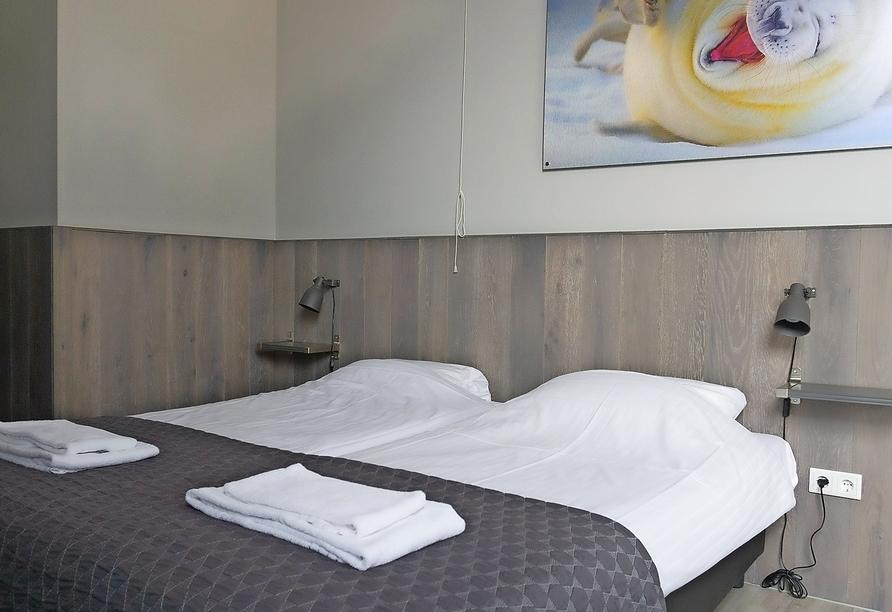 Hotel Waddenweelde in Pieterburen in den Niederlanden, Zimmerbeispiel