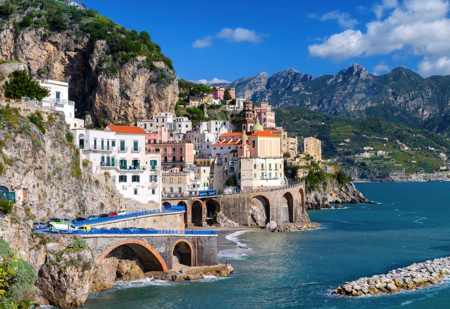 Während Ihrer Minikreuzfahrt haben Sie freie Zeit in Amalfi.