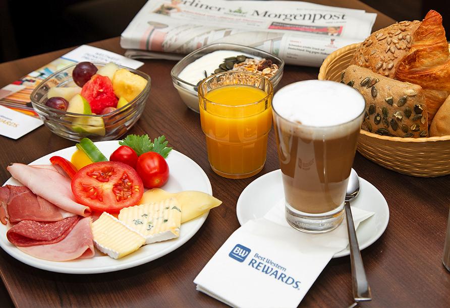Buntes und vielfältiges Frühstück.