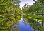 Tiergarten und Fluss in Berlin.