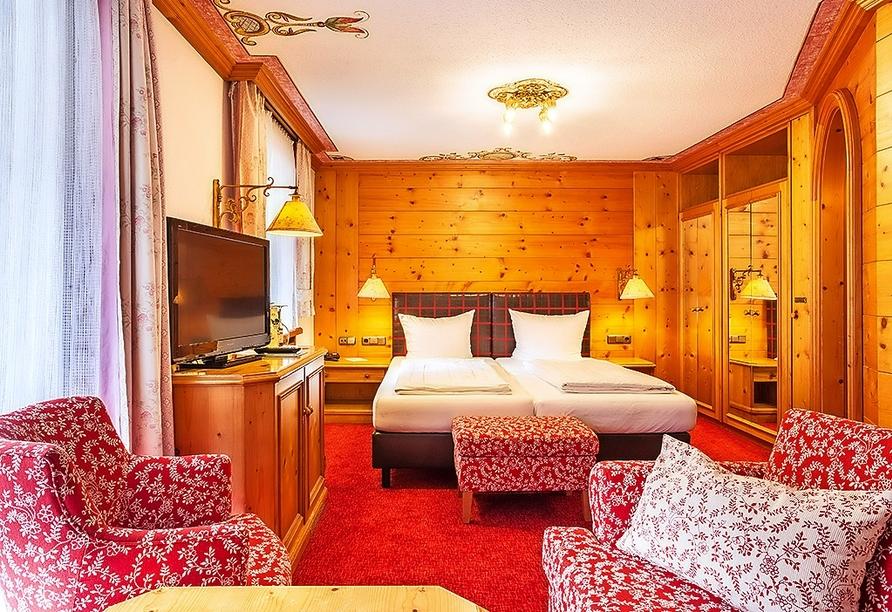 Beispiel eines Doppelzimmers Standard im Alpenhotel Oberstdorf