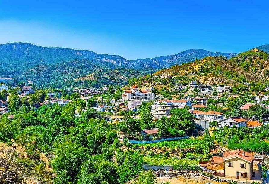 Kakopetria ist ein Dorf im Solea-Tal im Troodos-Gebirge.