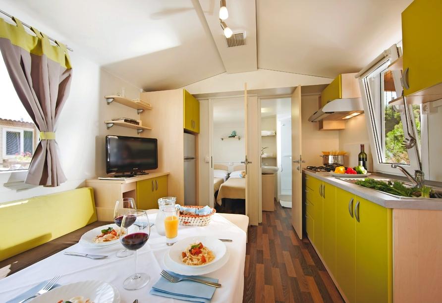 Aminess Sirena Campsite Holiday Homes, Novigrad, Istrien, Kroatien, Wohnbereich Sirena Classic