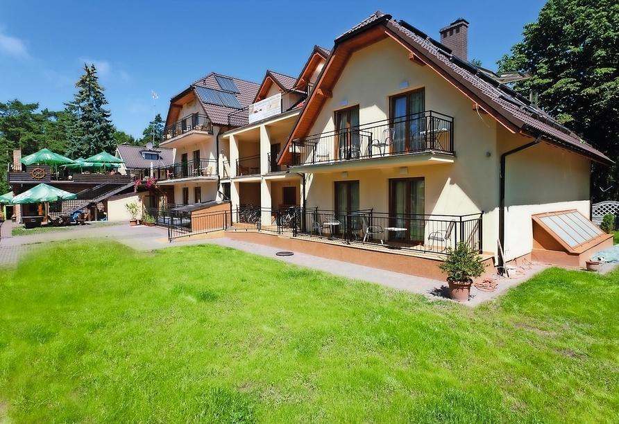Hotel Paula Spa in Poberow, Außenansicht