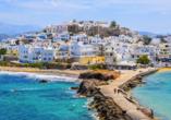 Auf Naxos legen die Fähren in Chora an.