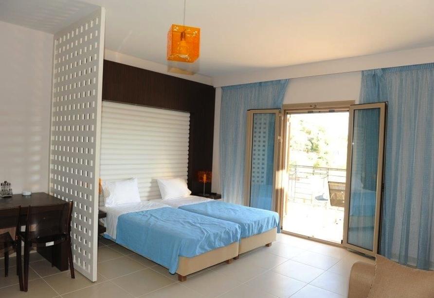 Zimmerbeispiel vom Hotel Tsokas in Finikounda