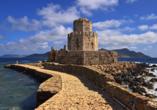Die imposanten Venezianische Festung von Methoni ist einen Besuch wert.