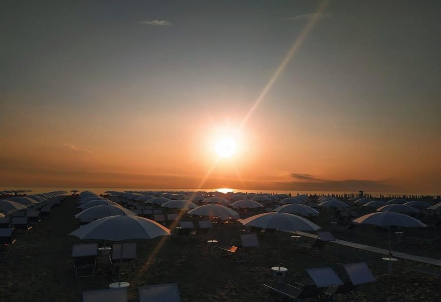 Hotel Naica in Rimini, Strand