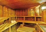 Entspannung bietet Ihnen die Sauna des Amber Hotels Leonberg.