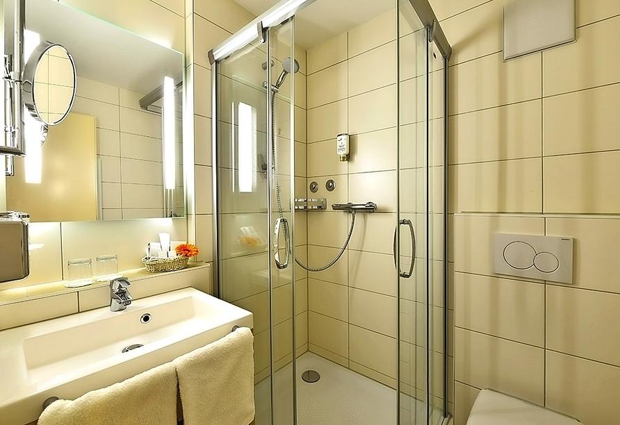 Beispiel eines Badezimmers im Amber Hotel Leonberg