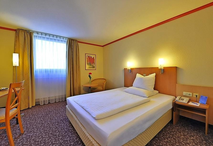 Beispiel eines Einzelzimmers im Amber Hotel Leonberg