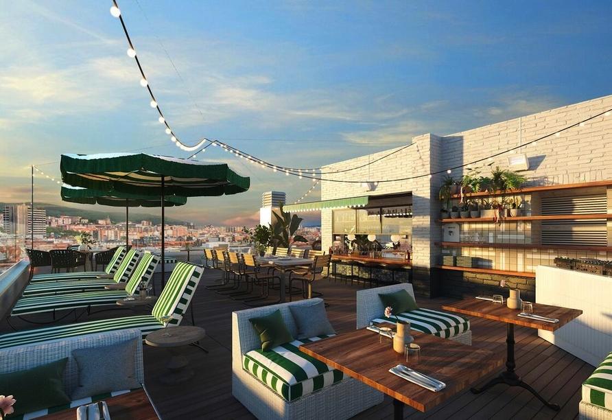 Terrasse vom Beispielhotel Hotel Ercilla